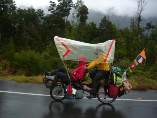 Cile sotto la pioggia
