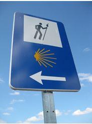 Cammino di santiago in bicicletta-segnaletica