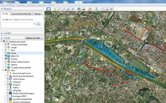 ciclabili-firenze-google-earth