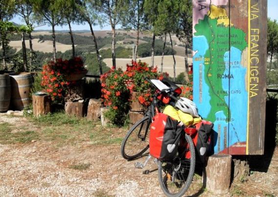 via francigena in bicicletta
