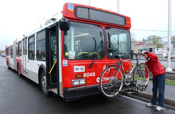 Bus with bike rack toronto