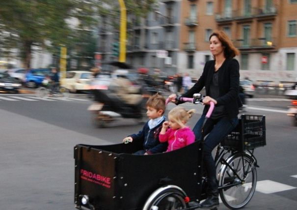 cargo bike percorso ciclabile