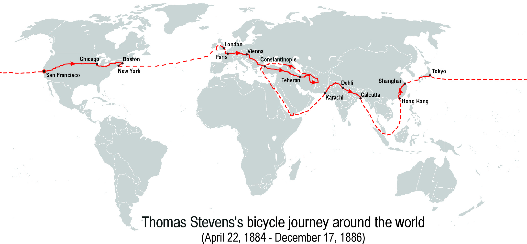 Thomas-Stevens's-bicycle-journey