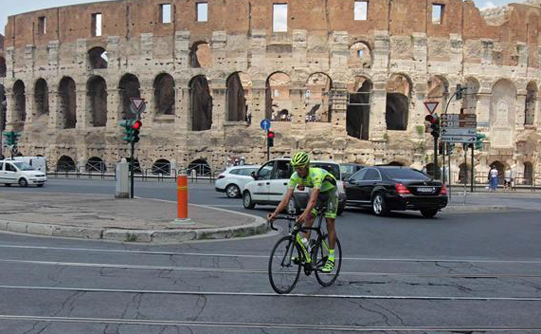 Roma tour in bici per la citta'