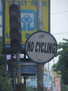 Divieto di bici a Calcutta