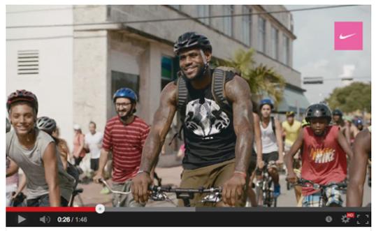 Lebron on bicycle