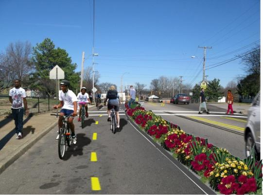 Rendering della ciclabile crowdfunded, Memphis