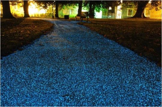 Pista ciclabile luminosa a Cambridge