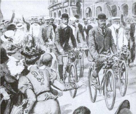 Un disegno dell'arrivo a Roma