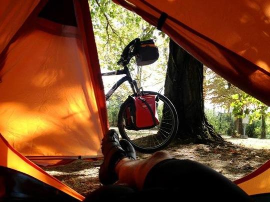 campeggio libero in bicicletta