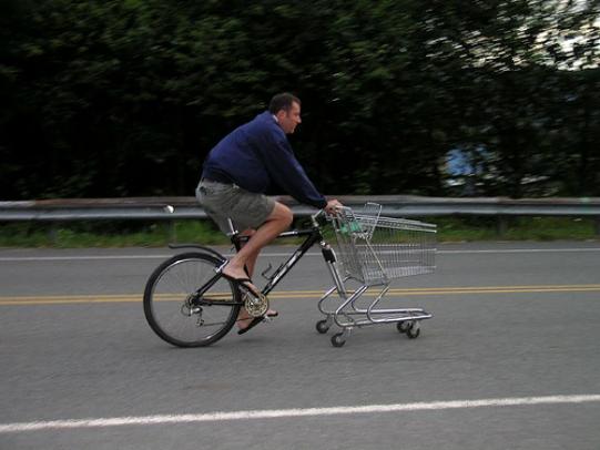 spesa in bici