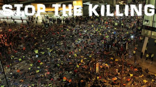 Stop the killing Londra die-in