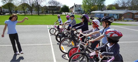 bambini in bici a scuola a londra