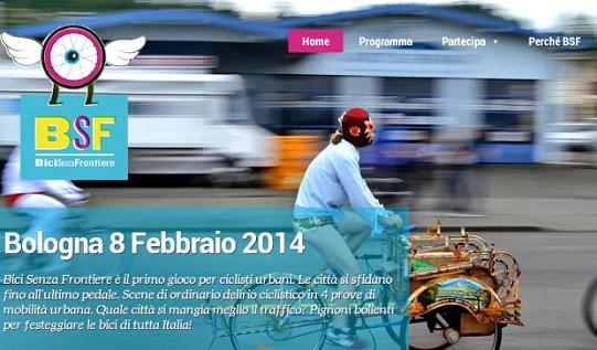 Bici senza frontiere Bologna 8 febbraio