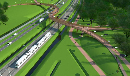 Nuovo ponte ciclabile in Olanda
