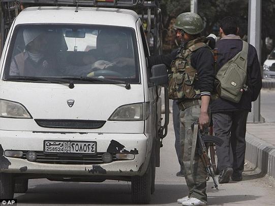 Uno dei checkpoint di Damasco