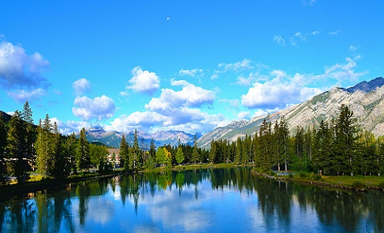 Fiume Bow, a Banff