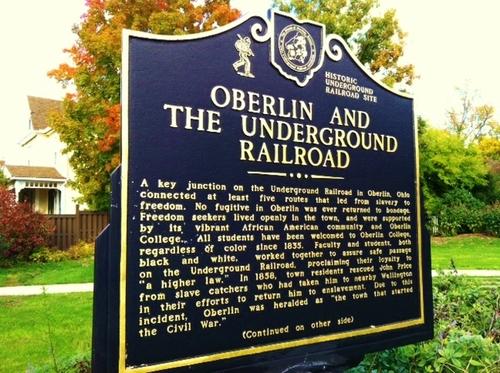 Memoraile alla Underground Railroad, a Oberlin
