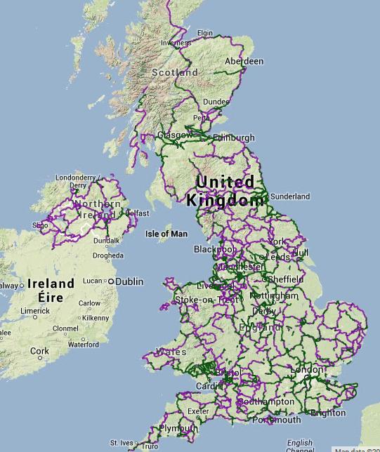 Cicloturismo in Gran Bretagna