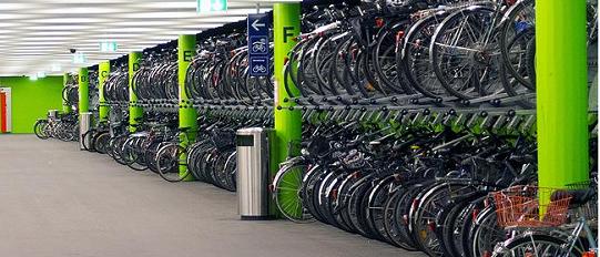 Un parcheggio per bici in Svizzera