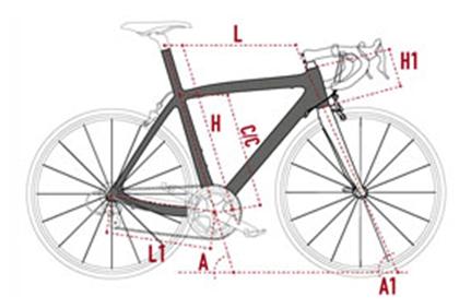 Geometrie Del Telaio Della Bici Corsa