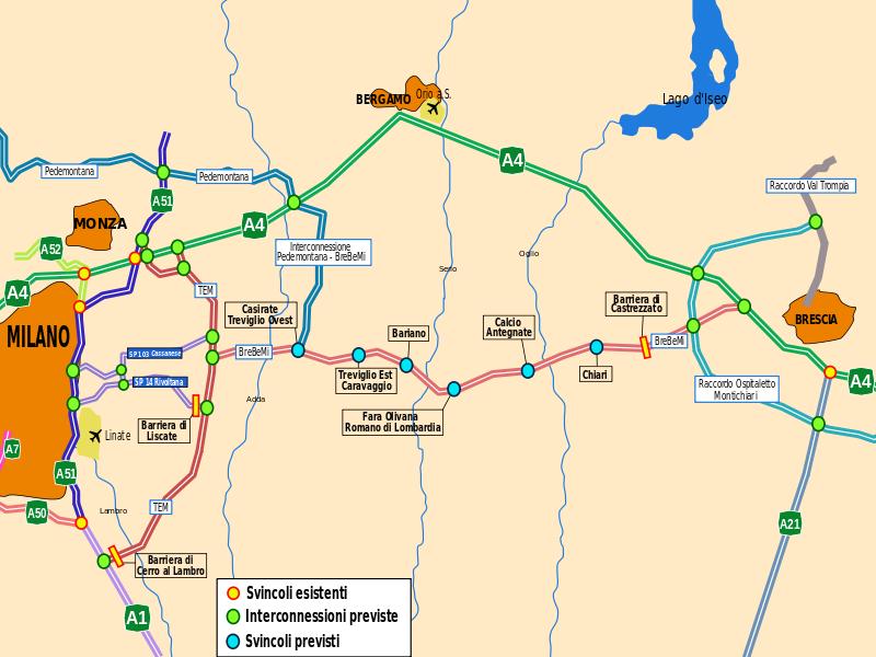 Autostrada Brebemi senza tutor