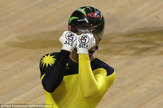 ciclista save gaza