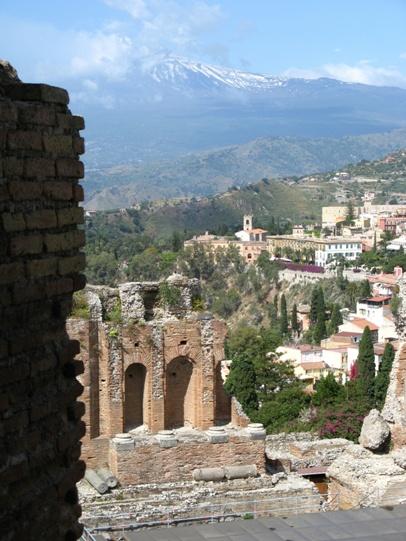 Taormina, Teatro Greco veduta