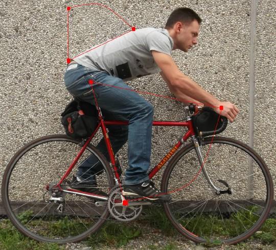 cambiare l'elevazione della sella influenza la postura, gli angoli tra i muscoli e l'aggressività sul mezzo
