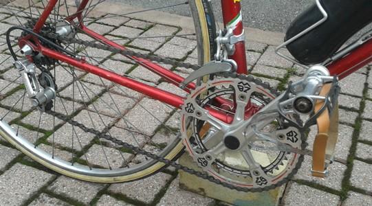 la catena deve essere lubrificata per scorrere bene, non deve essere immersa nell'olio!