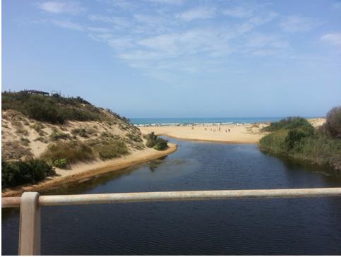 Un corso d'acqua che non riesce a sfociare