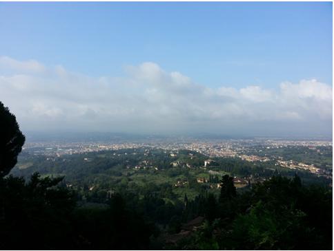 Firenze al mattino vista da Fiesole