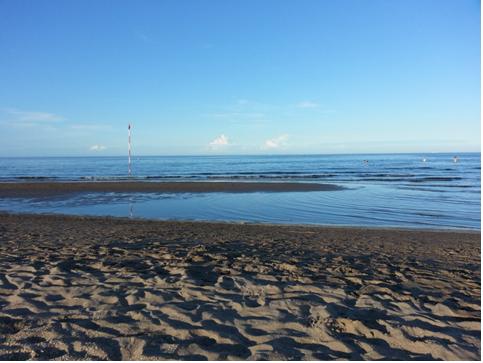 La spiaggia di Rosolina Mare (Ro) nel tardo pomeriggio
