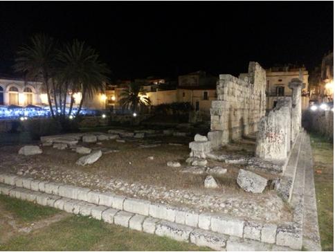 Quanto resta del tempio di Apollo, a Ortigia