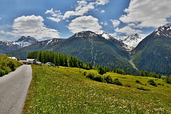 valle engadina in bici