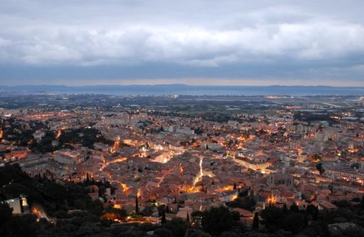 Il borgo di Hyères visto dalla collina
