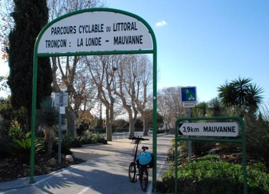 Il Parcours cyclable du littoral nel tratto La Londe - Mauvanne