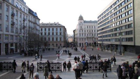 piazza Santo Stefano a Budapest