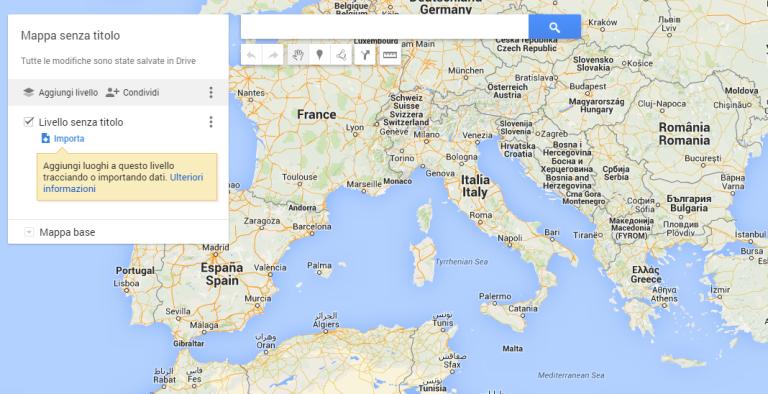 Cartina Italia Con Distanze Km.Creare Una Mappa Interattiva Con Google My Maps