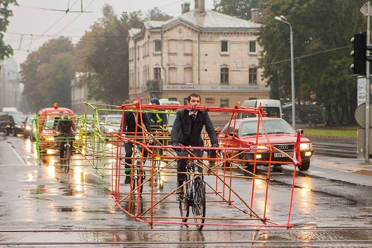 La protesta di Riga, in Lettonia