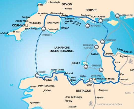 Mappa Tour de Manche