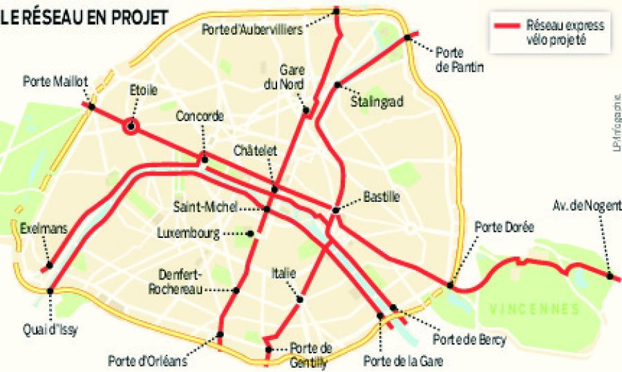 rete di piste ciclabili Parigi