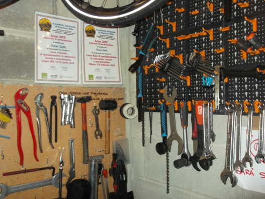 Allestire un 39 officina per bici in 1 5 metri quadrati for Piani di officina di garage