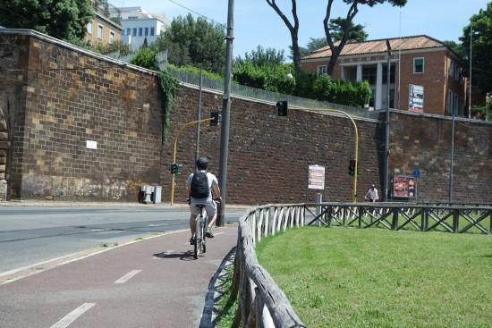 pista ciclabile Villa Borghese