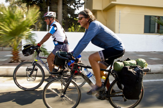 Ciclisti felici