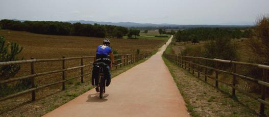 La via Verde tra Girona e St. Feliu