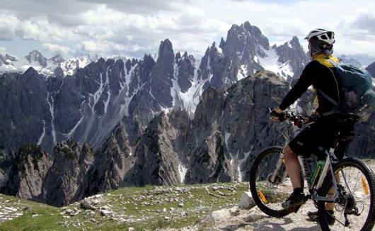 Il panorama delle Dolomiti