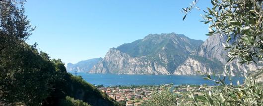 Vista su Torbole e lago di Garda