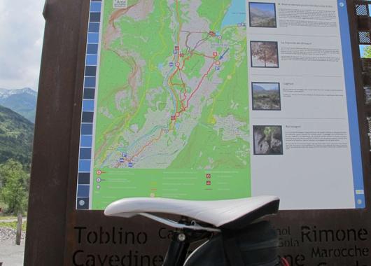 La cartina dei percorsi