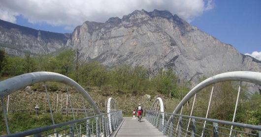 Un ponte della ciclabile